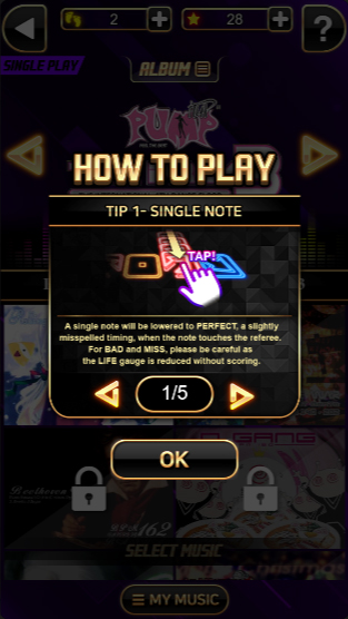 Pump It Up: H5 - How to Play (Single Note)